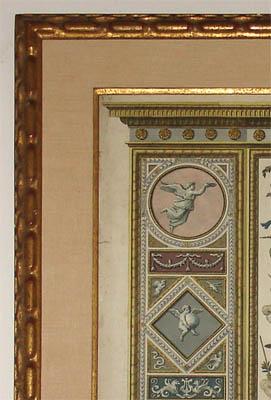 Gold leaf frame detail