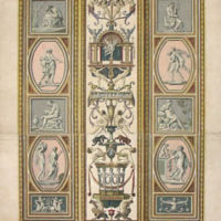 One of a Pair of Prints of Frescoed Pilasters