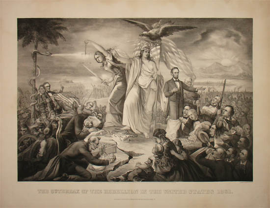 The Outbreak of the Rebellion in the United States 1861
