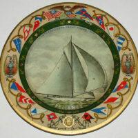 Tray, Commemorative, Reliance: International Yacht Races 1903