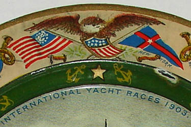 Tray, Commemorative, Reliance: International Yacht Races 1903