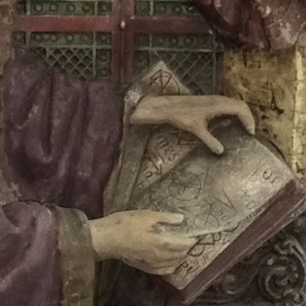 Renaissance Scientist in His Laboratory, detail