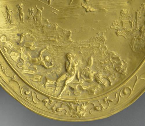 Book of Revelation Repousée Brass Plaque