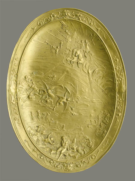 Book of Revelation Repousée Brass Plaque