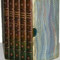 Books, Leather Binding, English Essays, Five Volumes