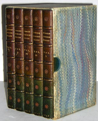 leather bindings english essays five volumes sangorski  books leather binding english essays five volumes