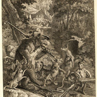 Engraving of Animal Fable