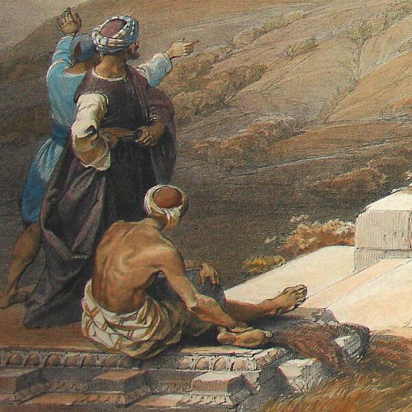 Sabaste, Ancient Samaria from The Holy Land, Syria, Idumea, Arabia, Egypt and Nubia, detail