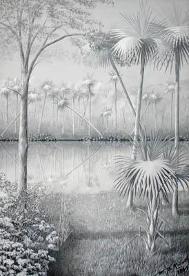 Tropical Palm Landscape