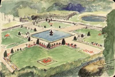 Fontainebleau (Garden Bird's-eye View)