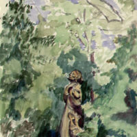 St. Francis by Malvina Hoffman. Miss Morgan's Garden at Mt. Kisco