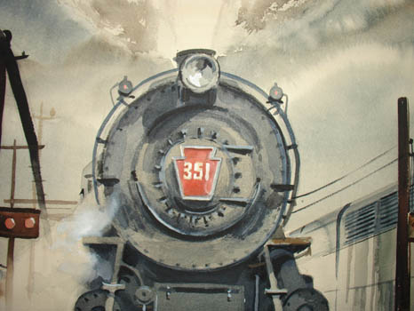 [Locomotives, Past and Present] detail