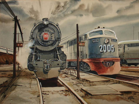 [Locomotives, Past and Present]