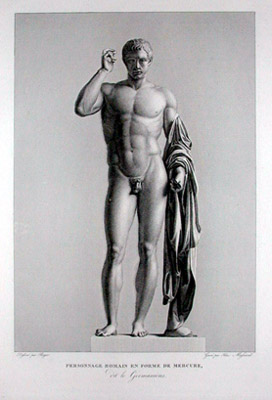 Personnage Romain en Forme de Mercure, Dit Le Germanicus [Roman Posed as Mercury, Known as 'The German']