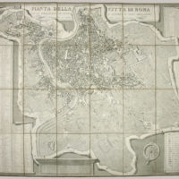 Map, Rome with Vignette Views
