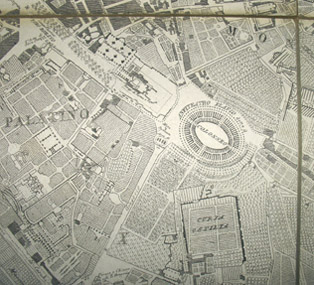 Detail of map showing the Colosseum