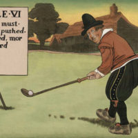 Humorous Golfing Paintings