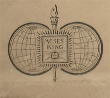 Moses King insignia in lower right margin.