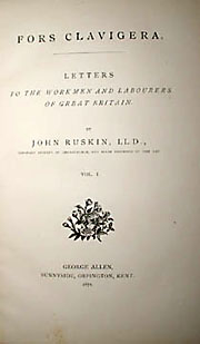 Books, Leather Binding, John Ruskin's Fors Clavigera