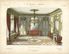 Design art decorative arts furniture interiors le for Salon louis xv