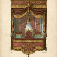 Décor de loge a Salon, pour Theatre, Etoffes de la maison Constant Bouhours et Juigne [Decor for a Theatre Box, Fabrics from the House of Constant Bonhours et Juigne]