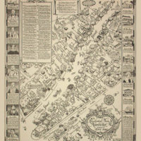 Pictorial Map, Nantucket, Mass. Residential Main Street