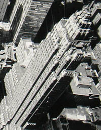 Western Lower Manhattan Birdseye View, detail