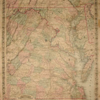 Topographical Map, Seat of War in Virginia, Maryland
