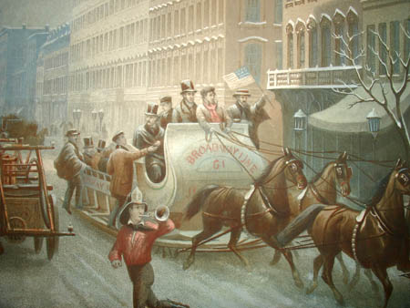 New-York [Winter Scene in Broadway. 1857]