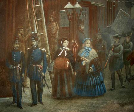 New-York [Winter Scene in Broadway. 1857]