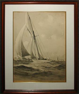 America's Cup Race 1895 -- Defender versus Valkyrie III