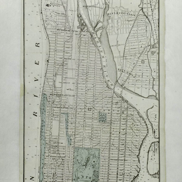 Map of the City of New York, 1868, detail
