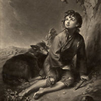 Print of Shepherd Boy