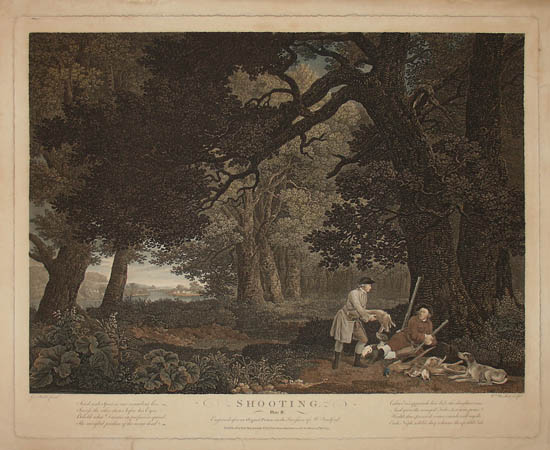 Shooting: Plates I through IV by George Stubbs