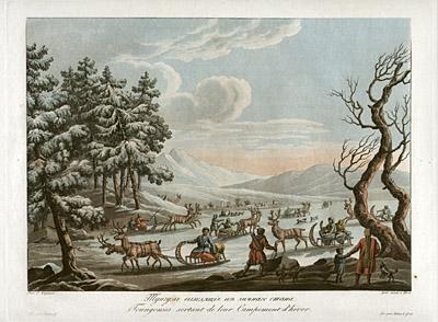 Siberian Tribe Winter Camp