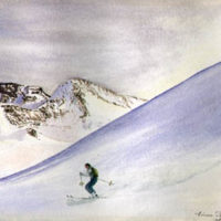 Snowscape with Skier