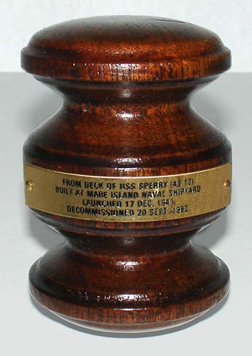 Gavel, USS Sperry Battleship Relic