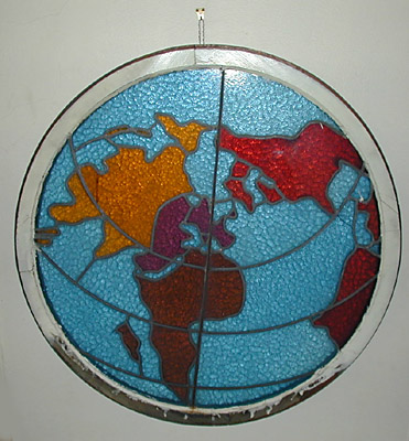 Map, World, Circumpolar Hemispheric