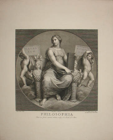 Philosophia - Engraving of Frescoes after Raphael in Papal Private Library