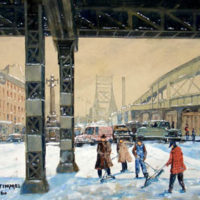 Queensboro Bridge in Winter, New York City