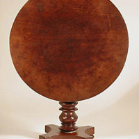 Model, Miniature Mahogany Tilt-top Center Table