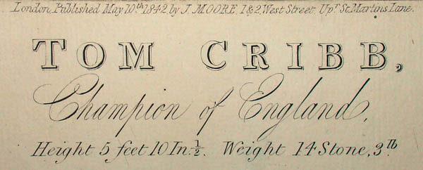 Tom Cribb, Champion of England