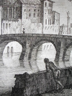 Etching of Venice