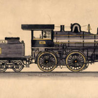 Set of Seven Studies of Locomotives