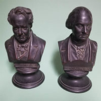 Portrait Busts of Alexander von Humboldt (left) and George Washington (right)