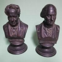 Portrait Busts of Alexander von Humboldt (left) and George Washington (right)