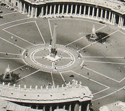 St. Peter's Square, detail
