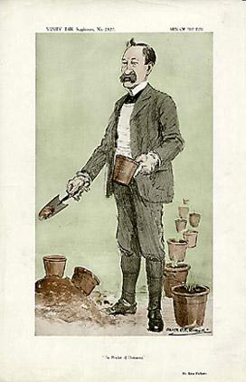 """Alick P.F. Ritchie Mr. Eden Phillpotts, """"The Prophet of Dartymoor,"""" from Vanity Fair Supplement No. 2327: c. 1913"""