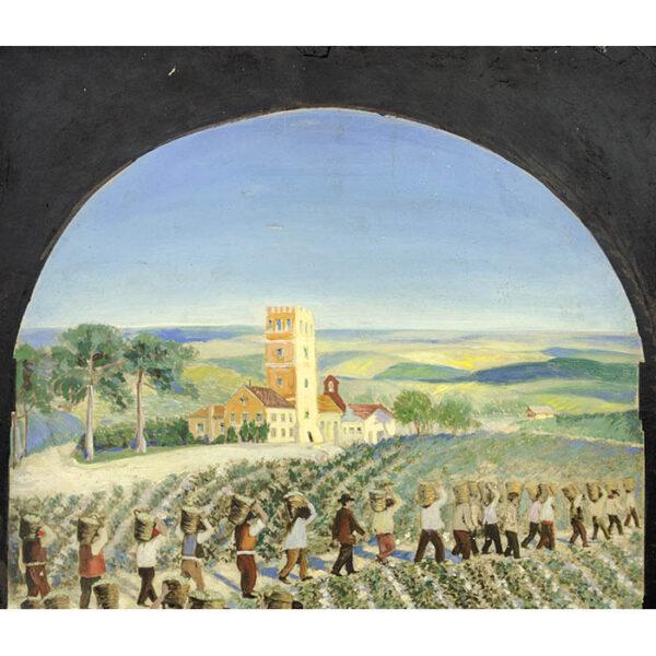 Vineyard Harvesters, detail