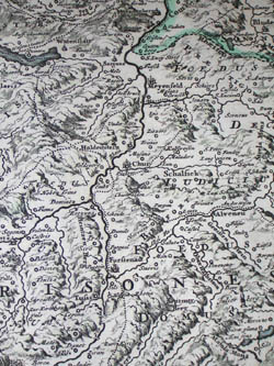 Map, Switzerland, Visscher's Exactissima Helvetiae